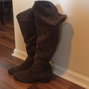 """Authentic """"Clara"""" Suede Over the Knee Frye Boots"""